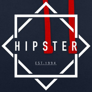 HIPSTER EST. 1994 - Contrast hoodie