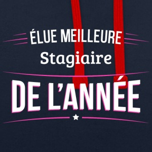Stagiaire elue meilleure Stagiaire - Sweat-shirt contraste