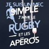 Rugby - un mec simple - Sweat-shirt contraste