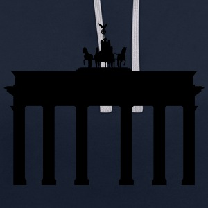 Berlin Brandenburg Gate - Contrast Colour Hoodie