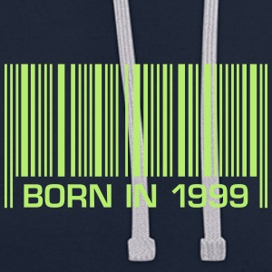 born barcode in 1999 18th birthday 18th birthday - Contrast Colour Hoodie