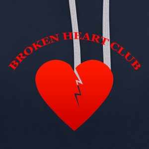 Broken Heart Club - Contrast Colour Hoodie
