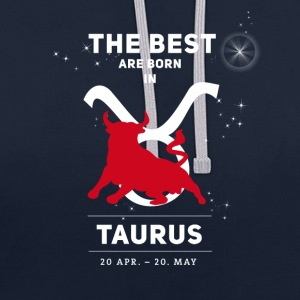 taurus taureau signes horoscope zodiaque astrologie - Sweat-shirt contraste