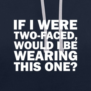 Two faced - Contrast Colour Hoodie