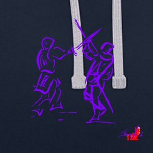 PURPLE SWORD - Contrast Colour Hoodie