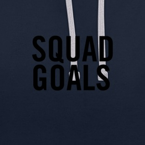 Squad Goals Black - Contrast Colour Hoodie