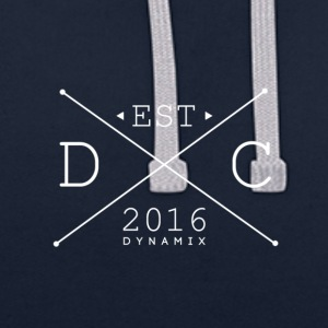 Dynamix_Clothing_Logo_White_-_600_dpi - Contrast Colour Hoodie
