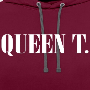 Queen T. Vous êtes la reine! - Sweat-shirt contraste