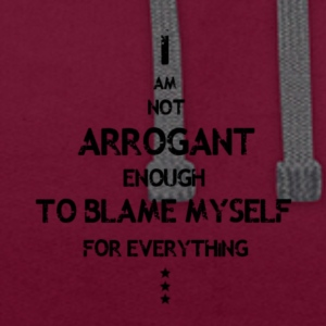 Not Arrogant Black - Contrast Colour Hoodie