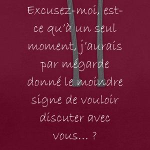 excusez moi... - Sweat-shirt contraste