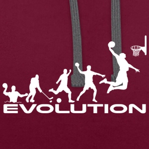 Basketball evolution - Contrast Colour Hoodie
