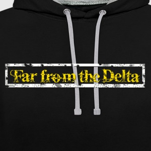 Far From the Delta - Contrast Colour Hoodie