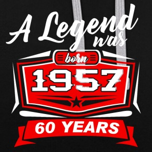 Legends sont nés en T-shirt 1957. - Sweat-shirt contraste