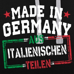 Made in Germany aus Italien - Kontrast-Hoodie