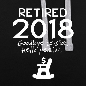 Retired 2018 - Contrast Colour Hoodie