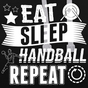 Handball EAT SLEEP REPEAT - Contrast Colour Hoodie