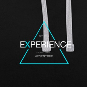 Experiences sports, travel adventure - Contrast Colour Hoodie