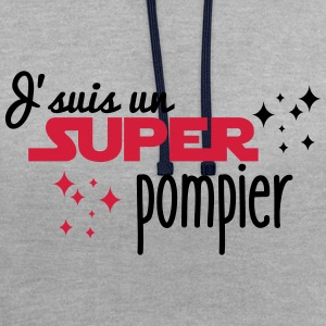 J'suis un super pompier - Sweat-shirt contraste
