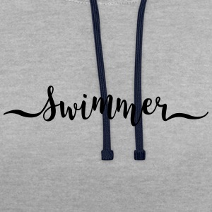 swimmer - Contrast Colour Hoodie