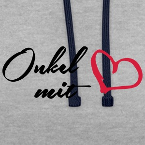 Oncle avec le coeur - Sweat-shirt contraste