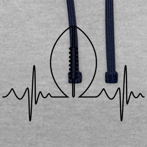 American Football Heartbeat - Contrast Colour Hoodie