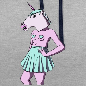 Feminist Unicorn - Sweat-shirt contraste