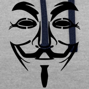 Masque Anonyme Image PNG - Sweat-shirt contraste