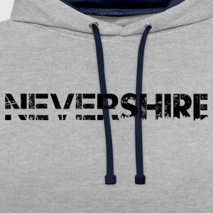 Nevershire lettering black - Contrast Colour Hoodie