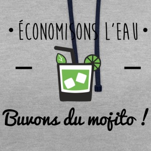 Buvons du mojito, humour,alcool,mojito,citations - Sweat-shirt contraste