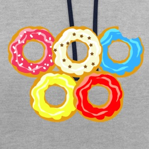 donuts - Contrast Colour Hoodie