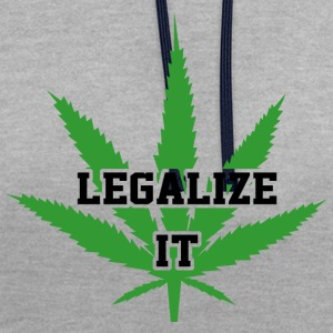 Legalize Marijuana Medical Cannabis Weed - Kontrast-Hoodie