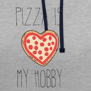 Pizza is my hobby - Contrast Colour Hoodie