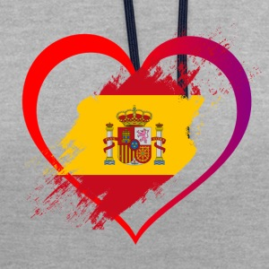 J'AIME COLLECTION ESPAGNE - Sweat-shirt contraste