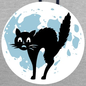Moon Cat - Contrast Colour Hoodie