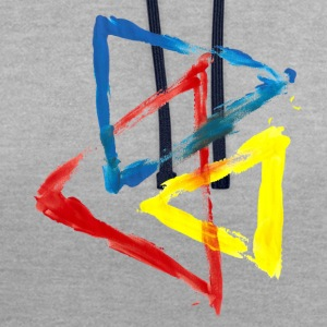 geometric - Contrast Colour Hoodie