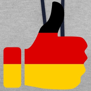 GERMANY / GERMANY - Contrast Colour Hoodie