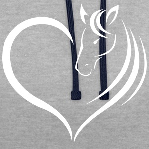 L'amour de cheval - Sweat-shirt contraste