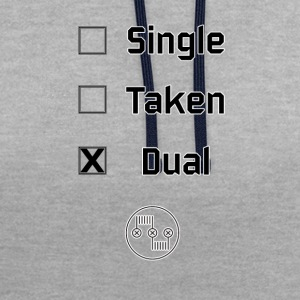 Single, Taken, Dual - Kontrast-Hoodie