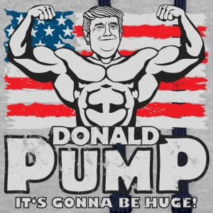 Donald pumping Flag Color - Kontrast-hettegenser