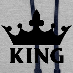 King T-Shirt - Contrast Colour Hoodie
