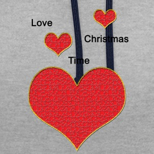 Love_Christmas - Contrast Colour Hoodie