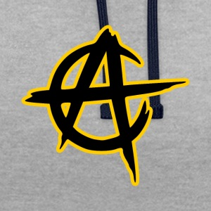 anarcho capitalisme - Sweat-shirt contraste