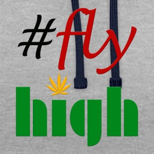 #flyhigh - Sweat-shirt contraste