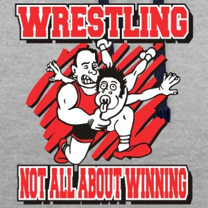 Wrestling Funny Wrestling Not All About Winning - Contrast Colour Hoodie