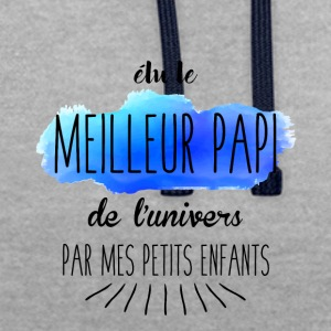 Meilleur papi - Sweat-shirt contraste