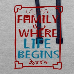 Family - My Life - Contrast Colour Hoodie