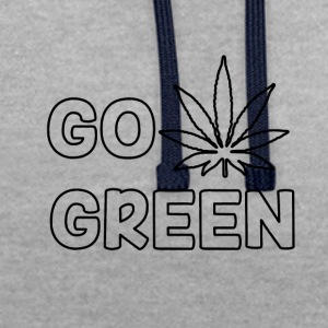 GO GREEN - Sweat-shirt contraste