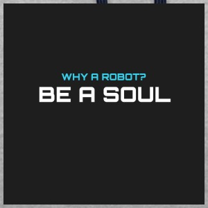 Why a robot? BE IN SOUL - Contrast Colour Hoodie