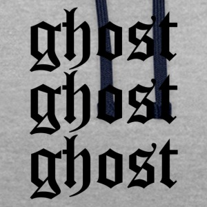 Ghost ghost ghost - Contrast Colour Hoodie