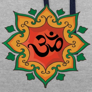 Om Yoga Symbole - Sweat-shirt contraste